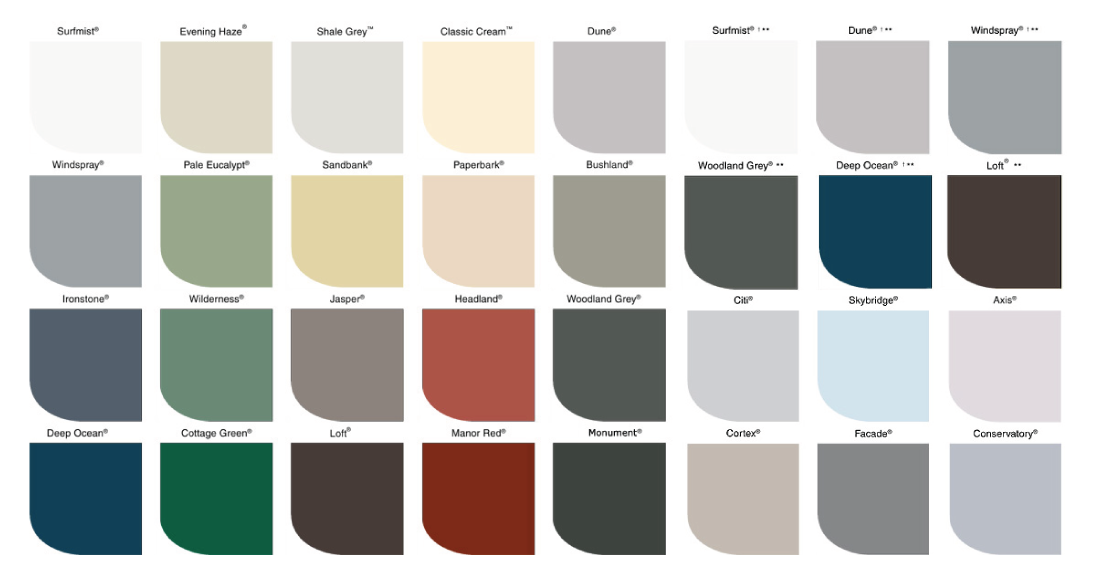 iroof-roofing-specialists-colour-chart